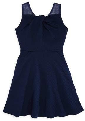 Us Angels Girls' Sleeveless Knot-Front Dress - Big Kid