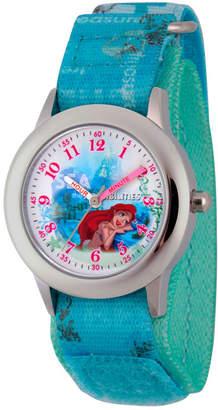 DISNEY PRINCESS Disney Princess Ariel The Little Mermaid Girls Blue Strap Watch-Wds000202