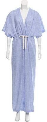Solid & Striped Linen Drawstring Jumpsuit