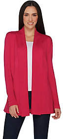 Susan Graver Rayon Nylon Cardigan with ButtonDetail