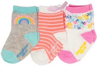Osh Kosh Oshkosh Bgosh Baby / Toddler Girl 3-pack Rainbow, Stripe & Floral Crew Socks