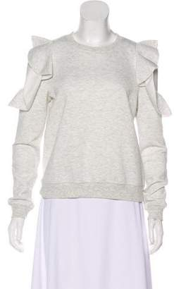 Rebecca Minkoff Ruffle-Accented Cold-Shoulder Sweatshirt