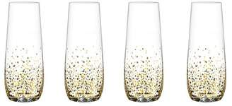 American Atelier Confetti Set of 4 Stemless Champagne Flutes