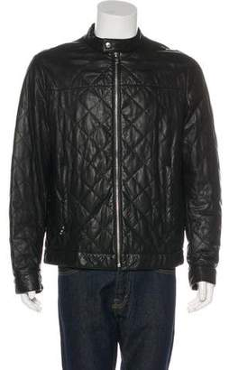Prada Quilted Padded Leather Jacket