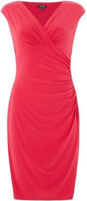 Lauren Ralph Lauren Wrap neckline detail cap sleeve dress