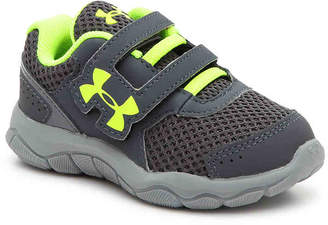 Under Armour Engage Toddler Sneaker -Grey/Neon Yellow - Boy's