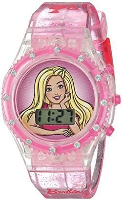 Barbie Girls' Quartz Watch with Plastic Strap