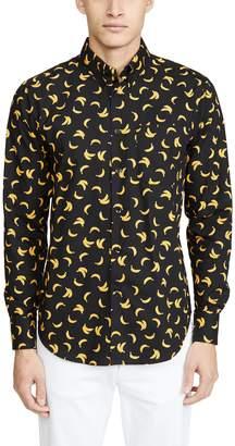 Naked & Famous Denim Easy Shirt In Banana Print