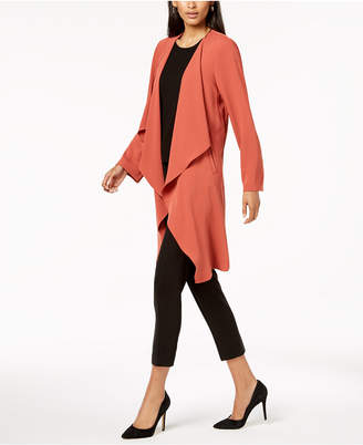 Nine West Draped Open-Front Topper Jacket