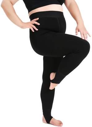HEMAY Women's Winter Plus Velvet High Waist Soft Comfortable Strong Stretchy Leggings