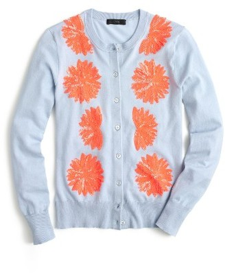 Women's J.crew Jackie Embellished Cotton Blend Cardigan $98 thestylecure.com