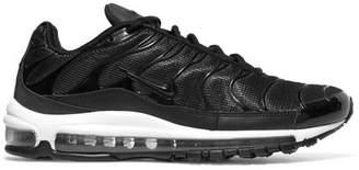Nike Air Max 97 Plus Faux Nubuck, Rubber And Mesh Sneakers - Black