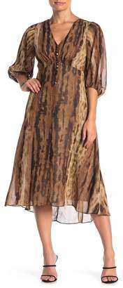 Taylor 3/4 Sleeve Animal Print Dress