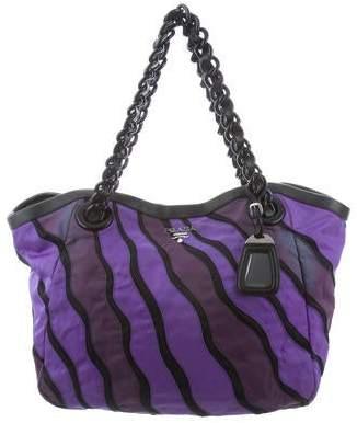 a35c4010fd5762 Prada Tessuto Nappa-Trimmed Waves Bag