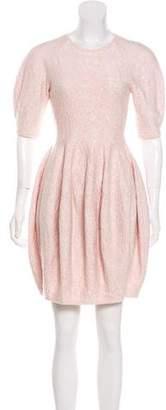 Alexander McQueen Wool & Silk-Blend Mini Dress