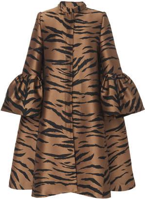 Carolina Herrera Tiger Jacquard Coat Size: 2