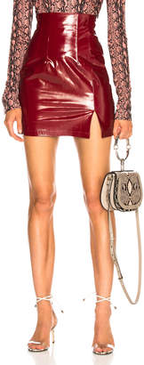 styling/ Zeynep Arcay Leather Mini Skirt