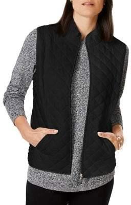 Karen Scott Petite Quilted Puffer Vest