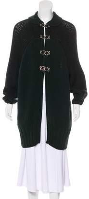Fendi Wool Longline Cardigan