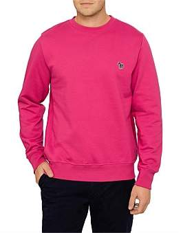 Paul Smith Mens Reg Fit Ls Zebra Sweatshirt