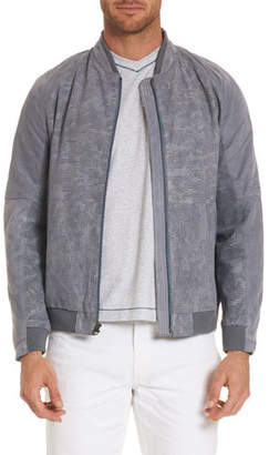Robert Graham Ricardo Perforated Suede Bomber Jacket