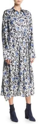 Christian Wijnants Dabba Floral-Print Button-Front Shirtdress