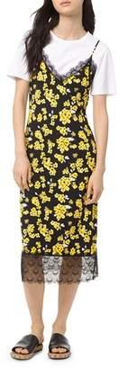 MICHAEL Michael Kors Glam Fleur Midi Slip Dress