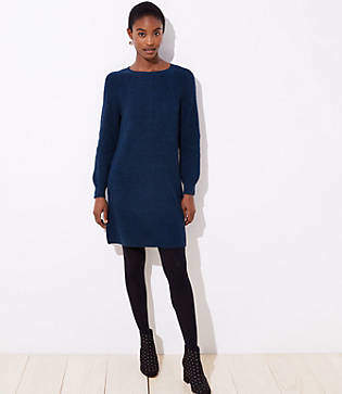 LOFT Ribbed Tie Back Sweater Dress