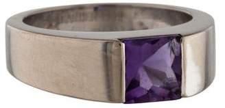 Cartier 18K Amethyst Tank Ring