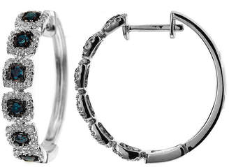 FINE JEWELRY LIMITED QUANTITIES 1/3 CT. T.W. White and Color-Enhanced Blue Diamond Hoop Earrings