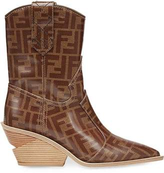 Fendi pointed toe cowboy booties