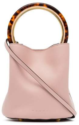 Marni Pink Pannier leather bucket bag