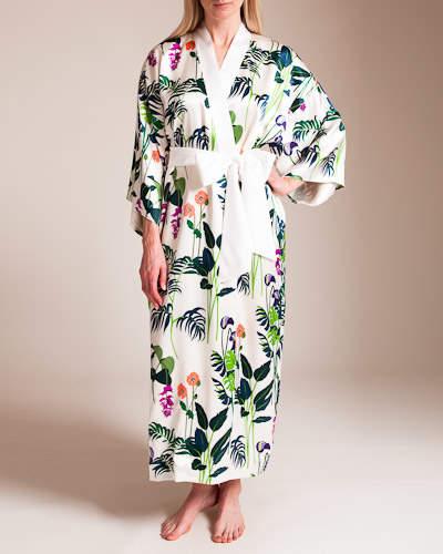 Olivia Von Halle Queenie George Long Silk Kimono