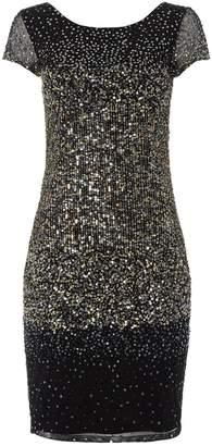231ad4e21d1 Dorothy Perkins Womens  Roman Originals Silver Ombre Sequin Bodycon Dress