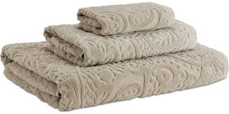 Kassatex Francesca Cotton Velour Paisley Bath Towel Bedding