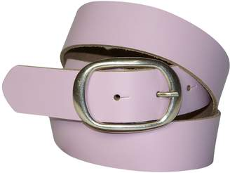 FRONHOFER women's leather belt, oval antique silver buckle, Size:, Color: