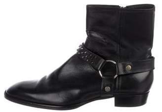 Saint Laurent 2014 Studded Wyatt Harness Ankle Boots