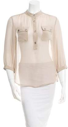 Loeffler Randall Sheer Silk Top