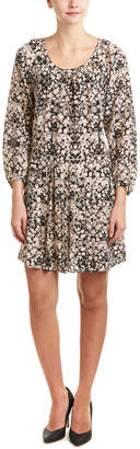 Rebecca Taylor Potpourri Paisley Print Silk Drop-Waist Dress
