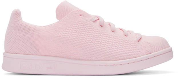 adidas Originals Pink Primeknit Stan Smith Sneakers
