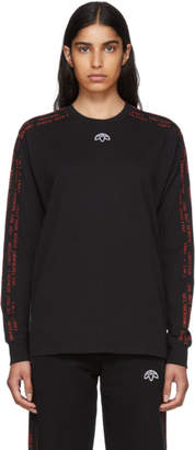 adidas by Alexander Wang Black Long Sleeve Logo T-Shirt