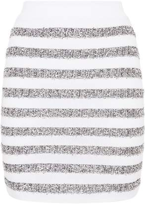 Balmain Horizontal Stripe Mini Skirt