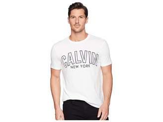 Calvin Klein Jeans Short Sleeve Calvin Outlined Printed Logo Tee