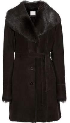Soia & Kyo Marielle Belted Shearling Coat