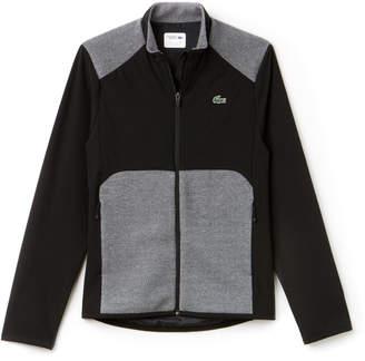 ea01a9294 Lacoste Men s SPORT Water-Resistant Bi-Material Golf Jacket