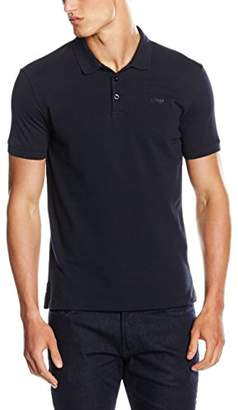 Armani Jeans Men's Solid Short Sleeve Polo Shirt
