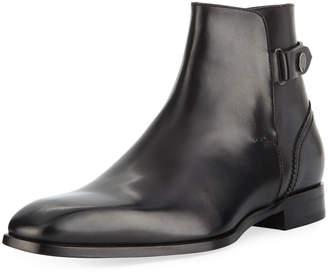 Ermenegildo Zegna Men's Milano Blake Leather Boot, Black