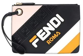 Fendi MANIA Triplette leather clutch