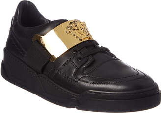 Versace Medusa Plaque Leather Sneaker