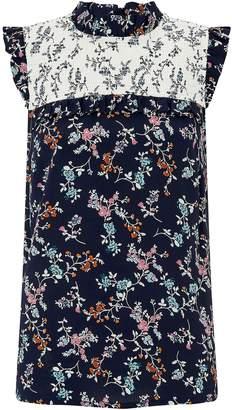 Next Womens Monsoon Blue Tamiko Print Sleeveless Top